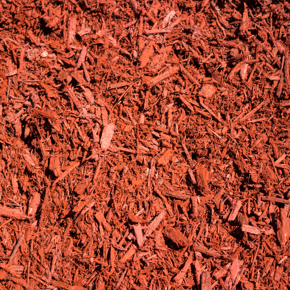 Palo DUro Red MULCH   Composition:  Freshly ground, it is a blazing red color.   Advantages:  Its retains soil moisture, inhibits weed growth, assists in prevention of soil erosion, light and easy to spread, provides a rich manicured look to your landscape, ground on site, and is the freshest material; it smells great too!   Applications:  Flowerbed and garden top dressing, great for playgrounds and picnic areas.   Special Notes:  Spread 3-4 inches. Not for mixing with the soil, use as a top dressing only.    $35.00 Per Cubic Yard      $3.75 Per 2 Cubic Foot Bag