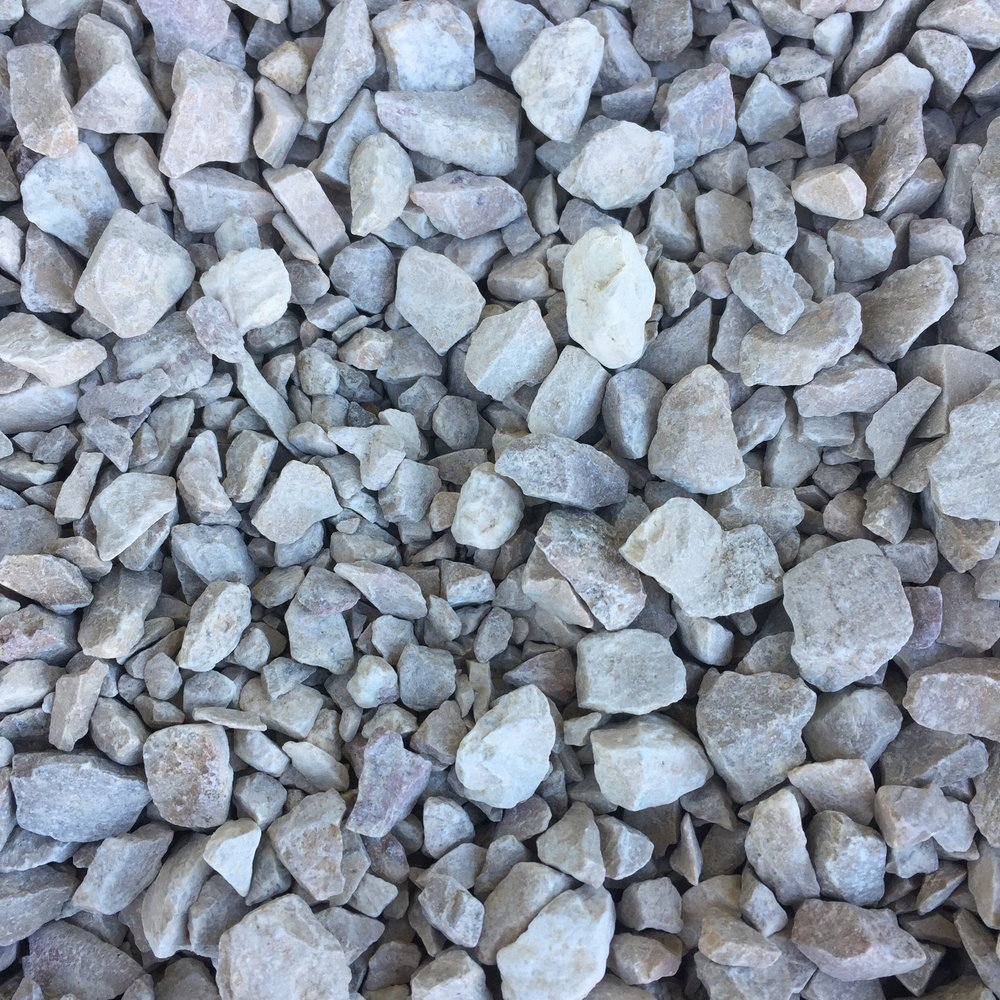 3/4 INCH Utility ROCK   Composition:  Type 57 Utility Rock  Applications:  A compactible rock that is best used as a driveway or pathway base, pipe embedment, or can also be used for landscaping applications.    $35.00 Per Cubic Yard
