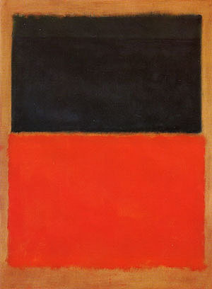 Green and Tangerine on Red  (1956), Mark Rothko