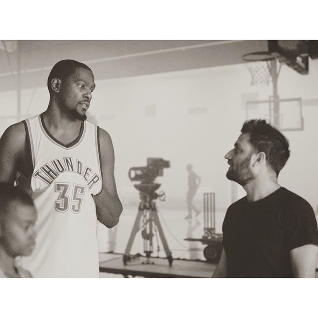 #tbt When KD was still on the Thunder and @julianking and I made a short film with him.