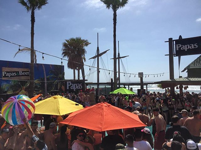 Things are heating up at Weekend #3 Pool Party!!!! #papasandbeer #springbreak #rosaritobeach