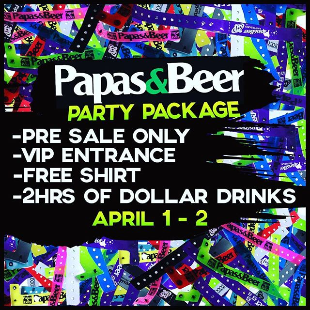 Remember to save time and money and buy your partypackage for week 4 online! #springatpapas