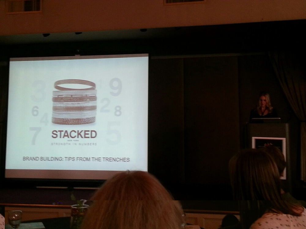 Here I am presenting tips on brand building at the 2014 Portland Jewelry Symposium, held Oct. 6 in Portland, OR.
