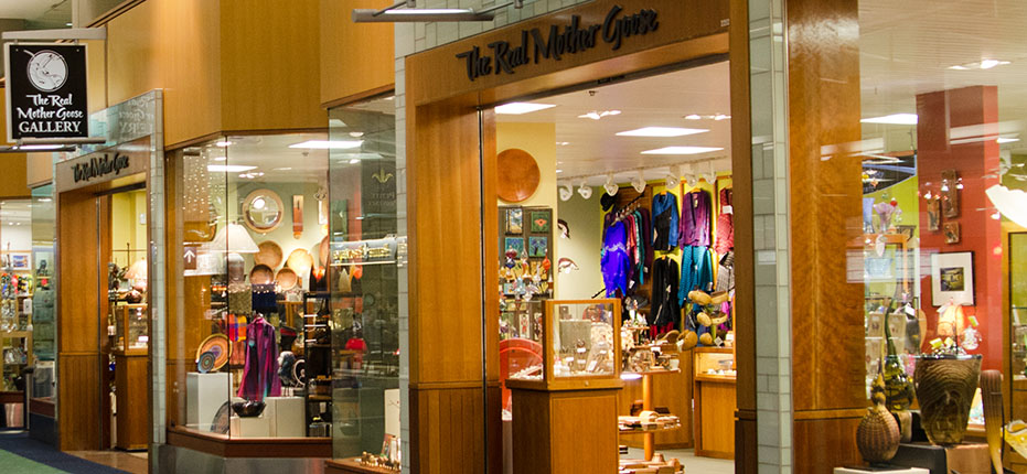 The Real Mother Goose gallery has locations in both downtown Portland and at the Portland airport.