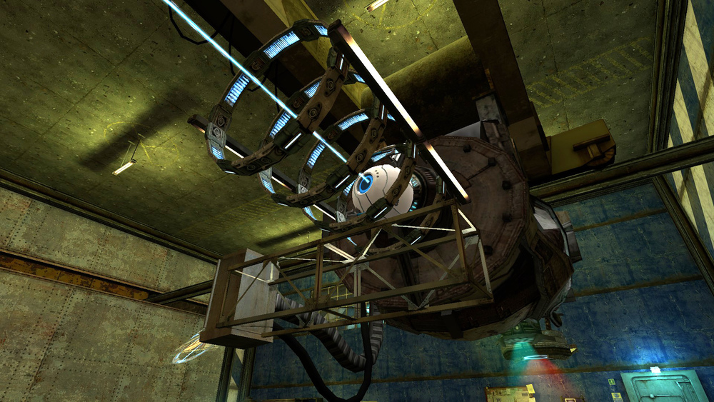 Having the Personality Projector on a gantry crane allowed it to move from range to range and be reused.