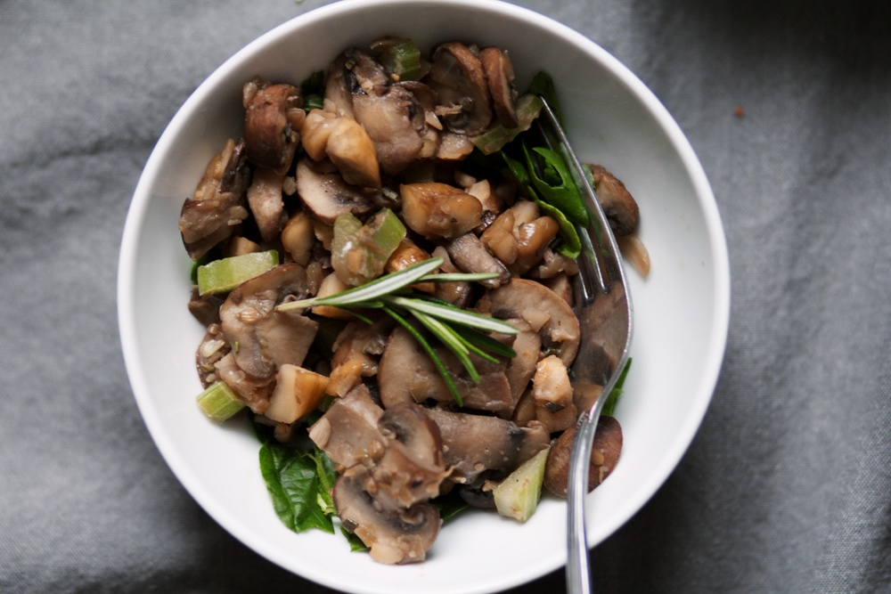 Roasted Chestnuts with Herbed Mushrooms