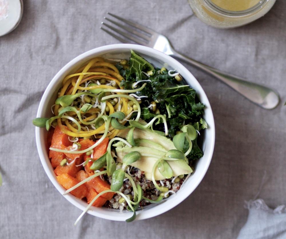 quinoa beet veggie bowl