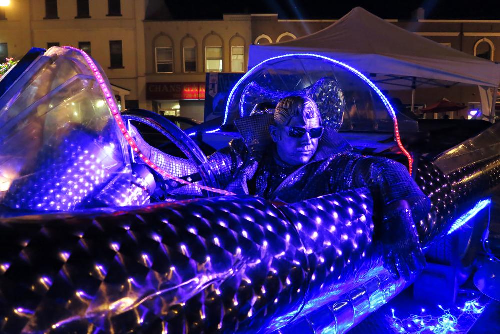 Silver Elvis in his Rocket Car.jpg