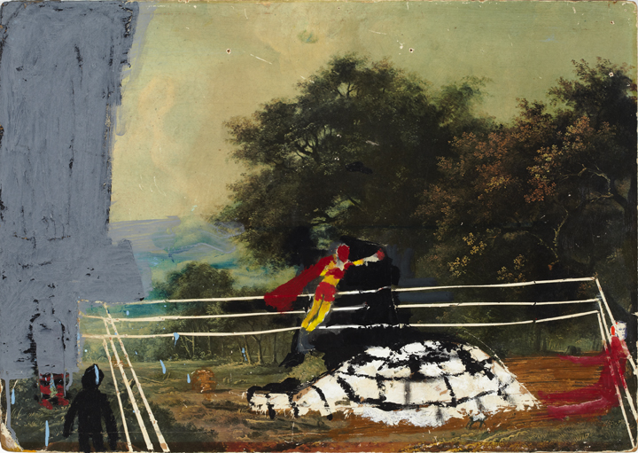 Clinton Griffin, Superpunch, 2002-2010, ink, acrylic, oil on board