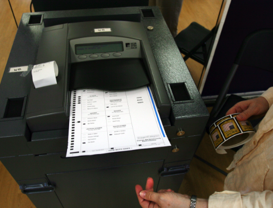 Those ballots were then counted using a machine such as this
