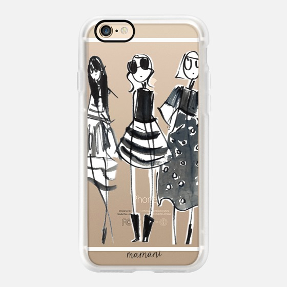 Phone Case : ALL SIZES TRANSPARENT CASE: BLACK IS THE NEW BLACK
