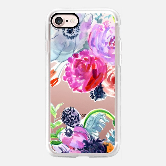 Phone Case : ALL SIZES TRANSPARENT CASE : FLOWERS FOR LINDSAY