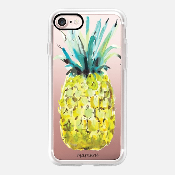 Phone Case : ALL SIZES TRANSPARENT CASE : LE PINE PINEAPPLE