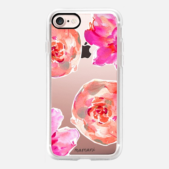 Phone Case : ALL SIZES TRANSPARENT CASE : PEONIES FOR DAYS