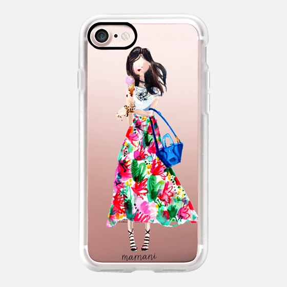 Phone Case : ALL SIZES TRANSPARENT CASE : ICE CREAM FASHIONISTA