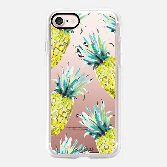 Phone Case : ALL SIZES TRANSPARENT CASE : PINEAPPLE PRINT