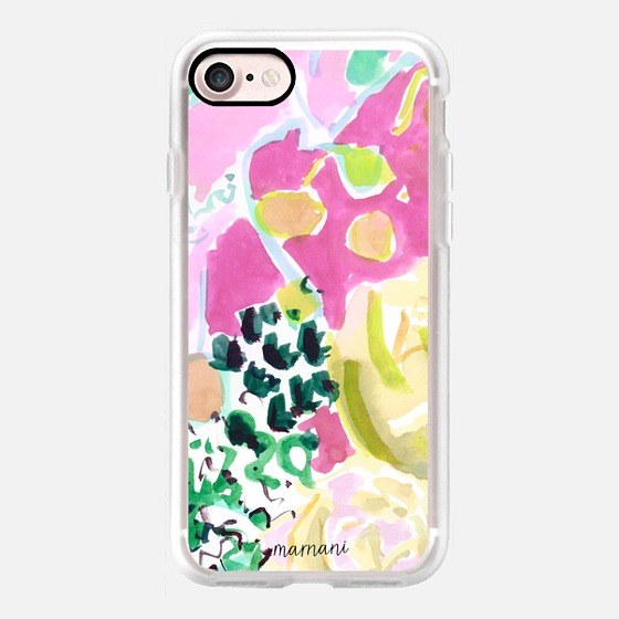 Phone Case : ALL SIZES TRANSPARENT CASE : WATERCOLOR FLORAL
