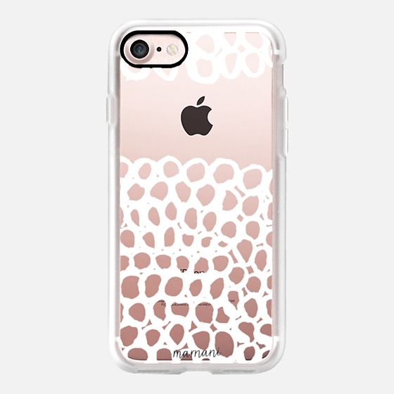 Phone Case : ALL SIZES TRANSPARENT CASE : LACE DOILY