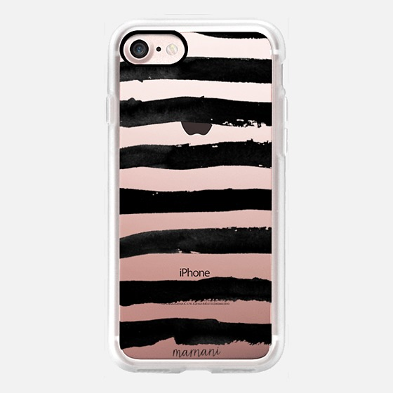 Phone Case : ALL SIZES TRANSPARENT CASE : INKED STRIPES