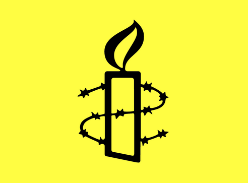 Amnesty International's yellow candle logo