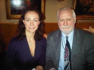 Aleksandra with Dr. Vyacheslav V. Moshkalo