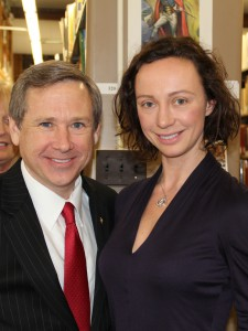 Senator Mark Kirk and Aleksandra Efimova