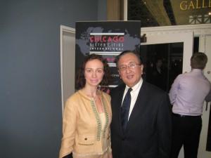 Aleksandra Efimova with George Hiseada, Consul General of Japan