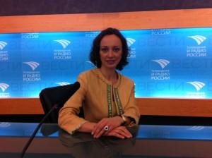 Aleksandra Efimova at Russia 24