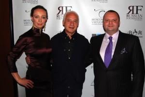 Vladimir Spivakov and Aleksandra Efimova