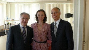 Aleksandra Efimova with Rashid Ismailov and Sam Scott