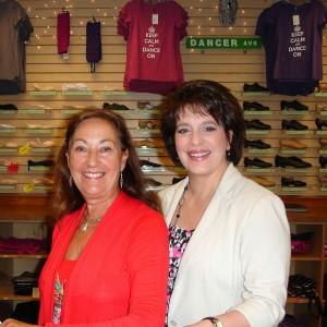Rosemary Liberto and Jo Anne Draucker, owner of Ellman's Dancewear