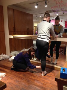 Russian Pointe pointe shoe fitting