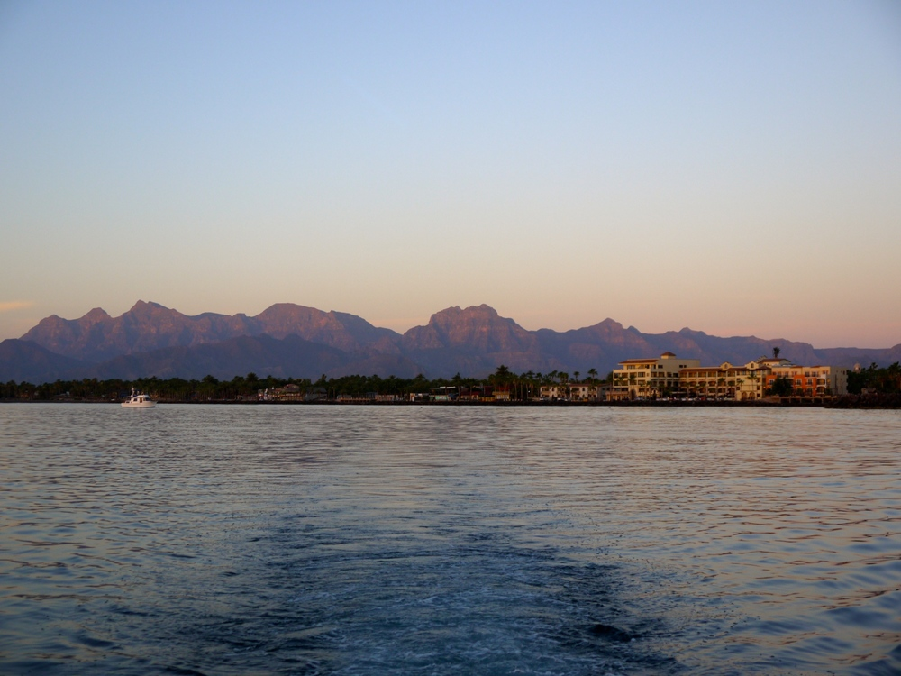 Sunrise as we departed from the Loreto Marina
