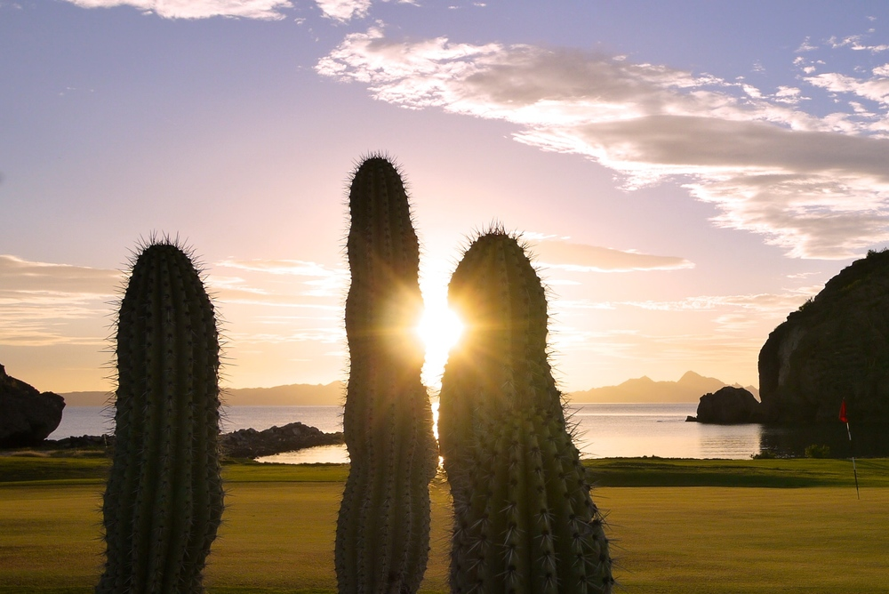 The Loreto sunrise from the 15th green.