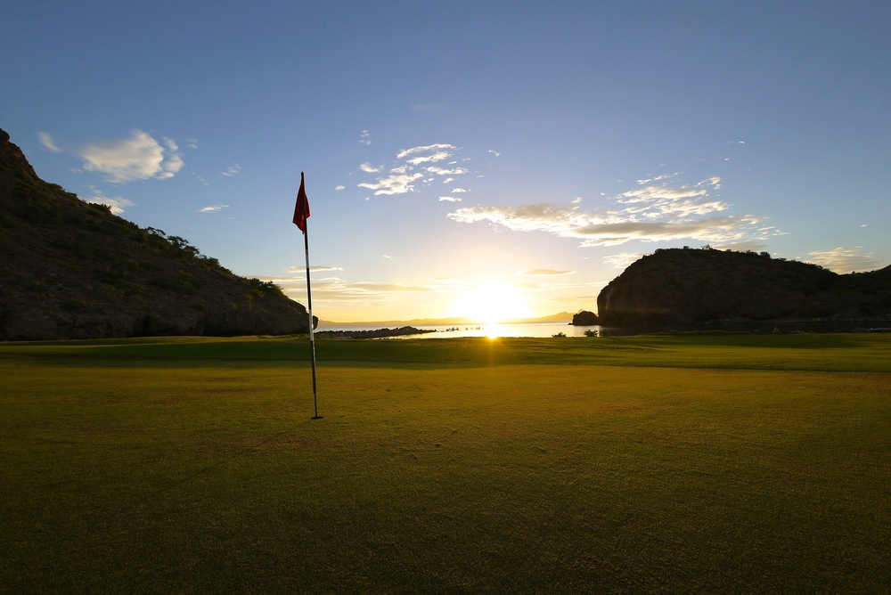 View from the 15th green on the Loreto Bay Golf Course.