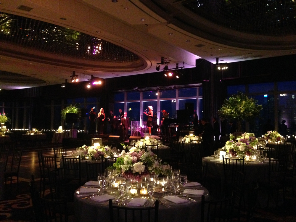 Ready for guest arrival in the ballroom of the Mandarin Oriental, New York