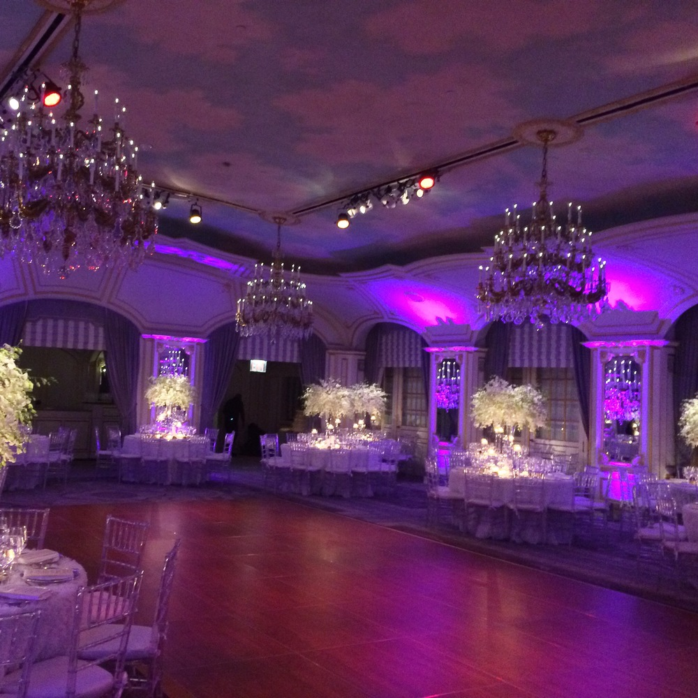 Saint Regis Hotel - Event design: VISIONS by Sora Lee & Anthony Brown.  Lighting by L & M Sound & Light.