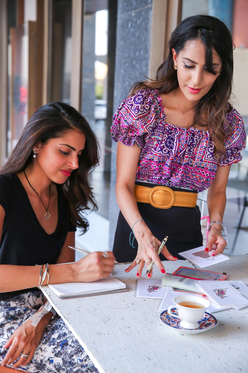 Alaa & Danah at Work - Co-founders of The Yard