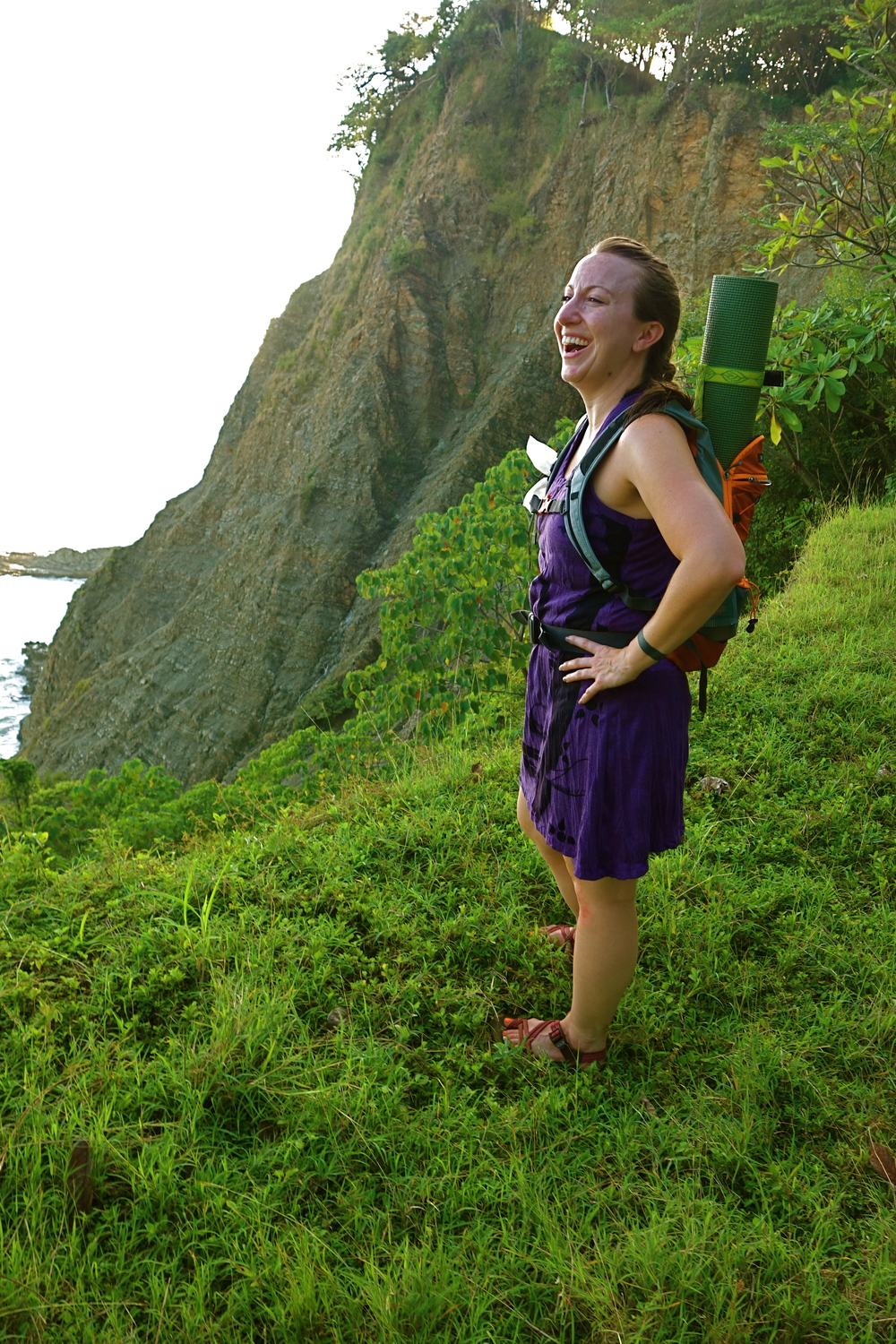 brandy laughing on a cliff.JPG