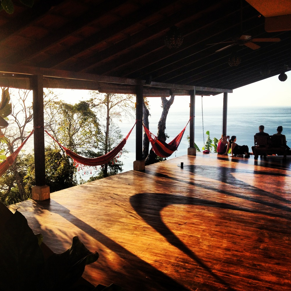 One of the two cliffside ocean view decks where yoga, fitness, and workshop classes will be held!