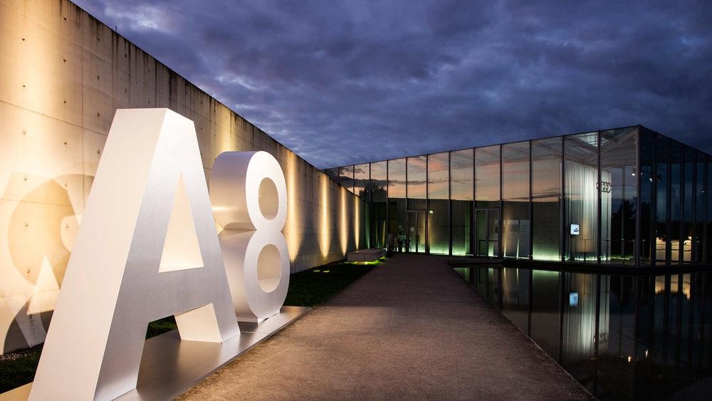 A8 Präsentation –  presentation , Langen Foundation, Düsseldorf 2013