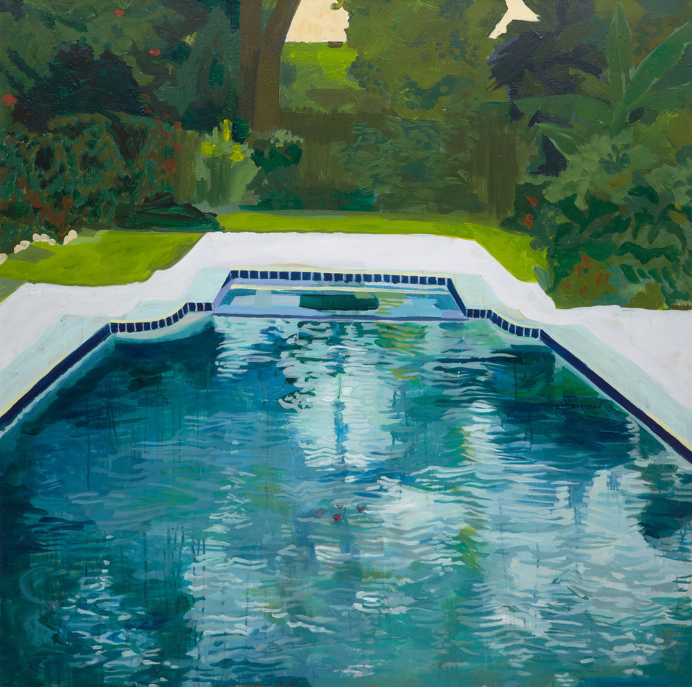 "Pam's Pool Houston 40""x40"""
