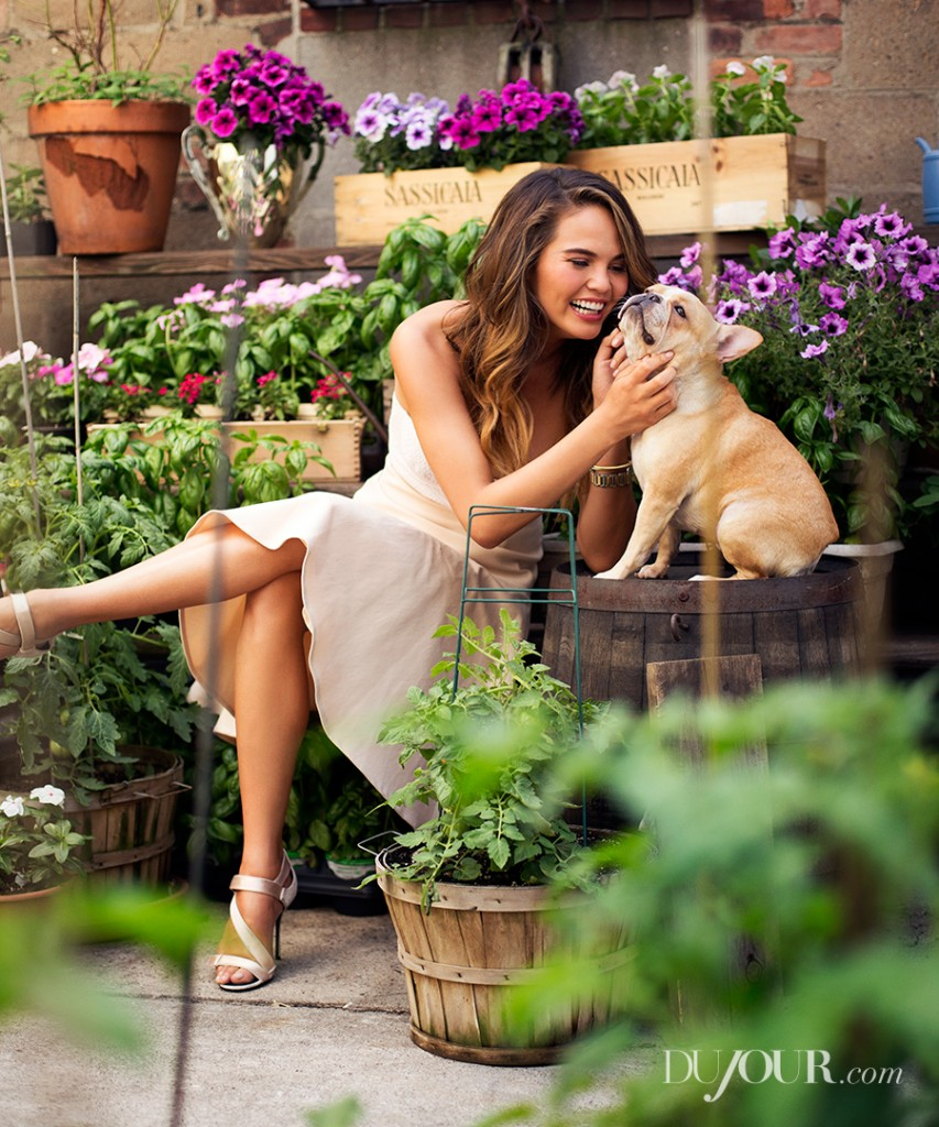 Final published image by Victoria Will. Chrissy Teigen's puppy Pippa also modeled!