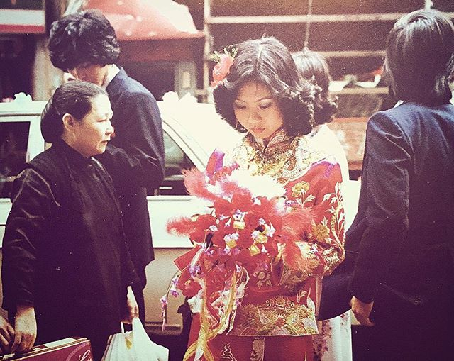Mom | Wedding Day I Hong Kong I 1979 I #momcrushmonday . . . . #motivationmonday #mother #marriage #parents #wedding #love #tradition #fashion #red #lucky #70s #hongkong #inspiration #feminist #her #strongwomen #instagood #film #photography #family #chinese #immigrants #influencer #rolemodel #respect #goals #mymommy #beautiful #queen