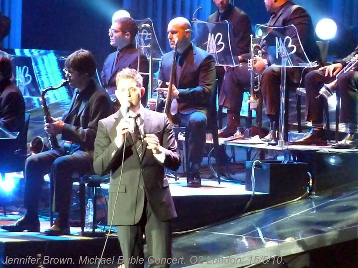Performing with Michael Buble in Londons O2 Arena