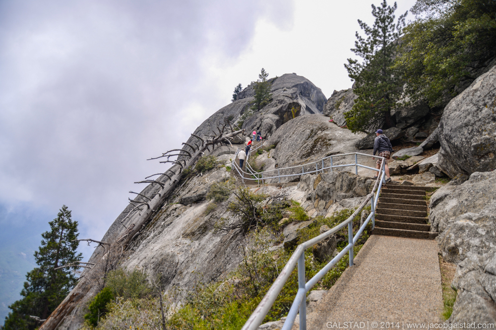 Some of the steps leading up to the summit of Moro Rock.