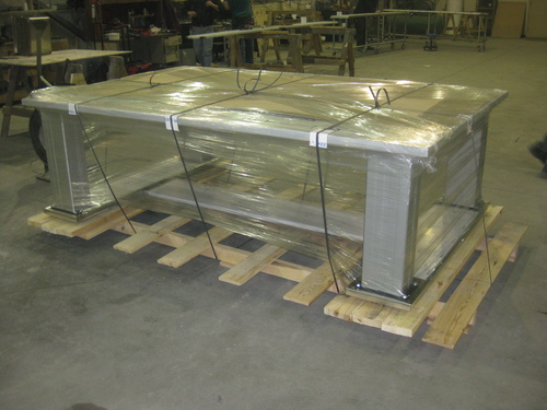 2000 lb lift table shipping to the military