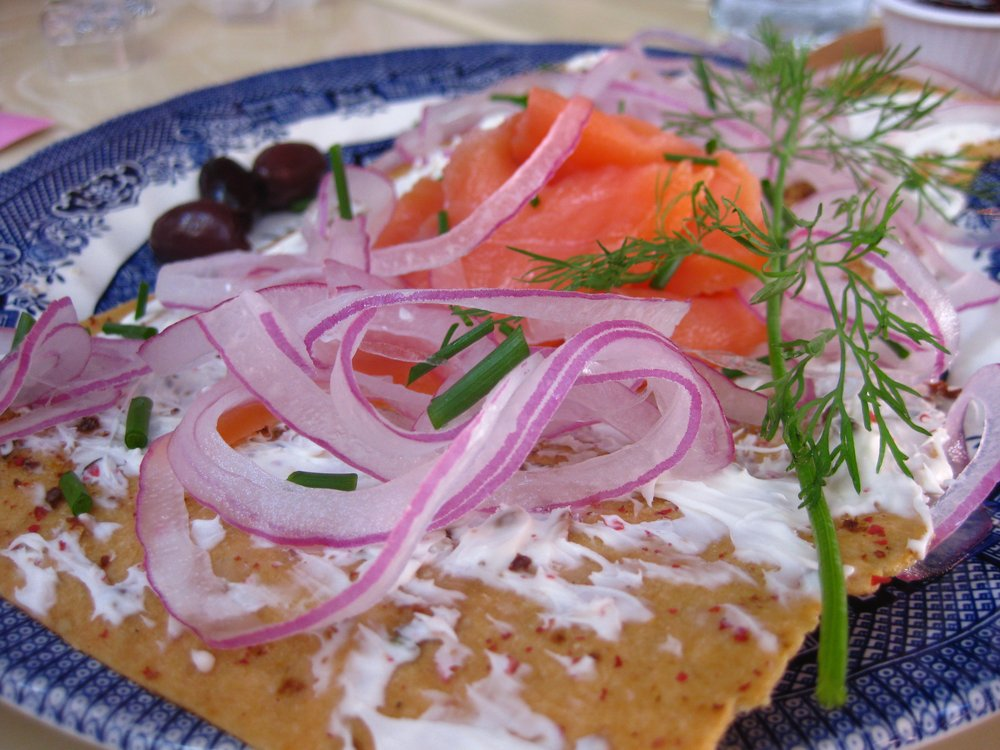 Scottish Smoked Salmon with Marscapone Cream & Fennel Lavash