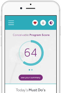 Your score helps you track your progress as your fertility improves over time