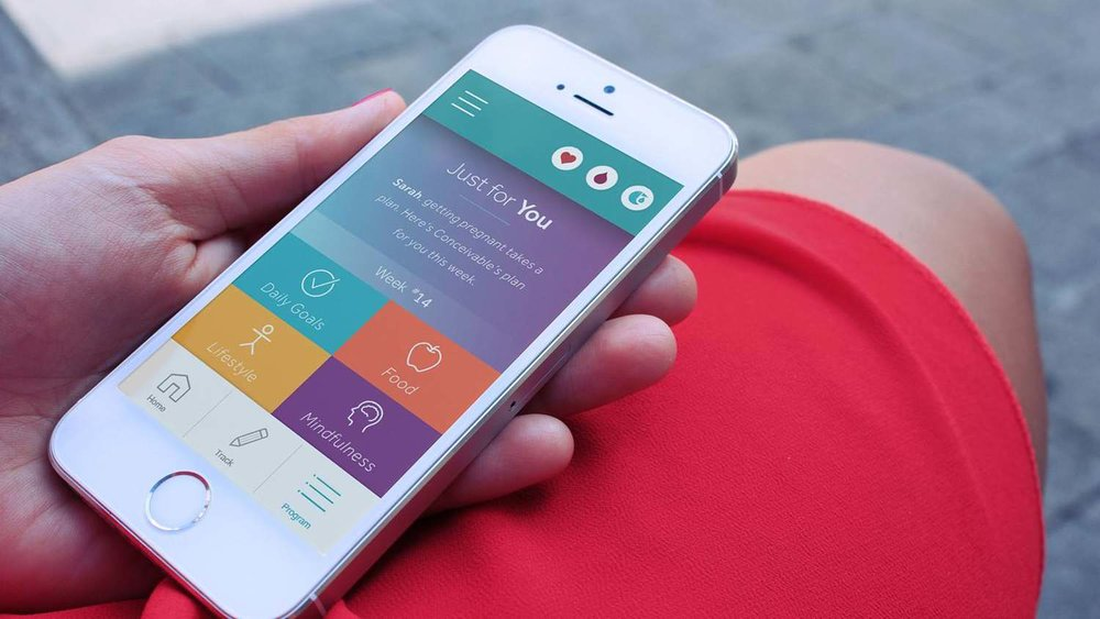 """Conceivable's new app puts a fertility clinic in your pocket."" — TechCrunch"